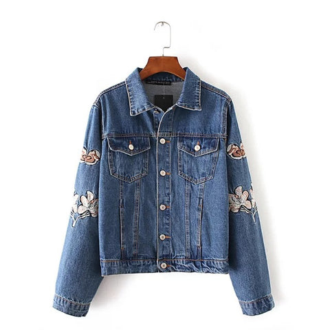 Say It! Embroidery Denim Jacket