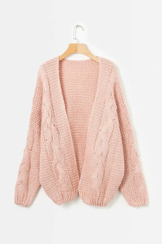 2018 Open Stitch Cotton Knitted Thick Outerwear Winter Sweater