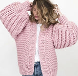 Open Stitch Loose Knitted Cardigan