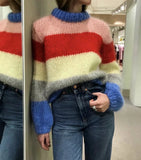 Patchwork Colorful Pullover Loose Mohair Knitted Sweater