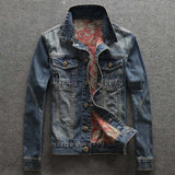 Men's Casual Single Breasted Denim Plus Size Jacket