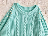 2018 Women's Fading Color Knitted Long Sweater