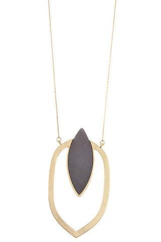 Marquise cut pendant long necklace