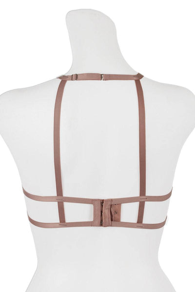 Ladies fashion cageback high-neck style bralette