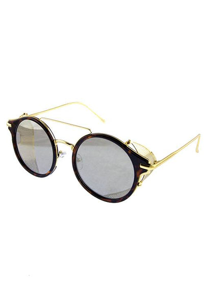 Womens rebar horned sideshield vintage inspired sunglasses