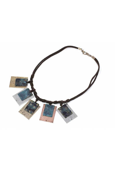 Double square shape necklace
