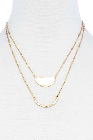 Double Layer Chic Pendant Necklace