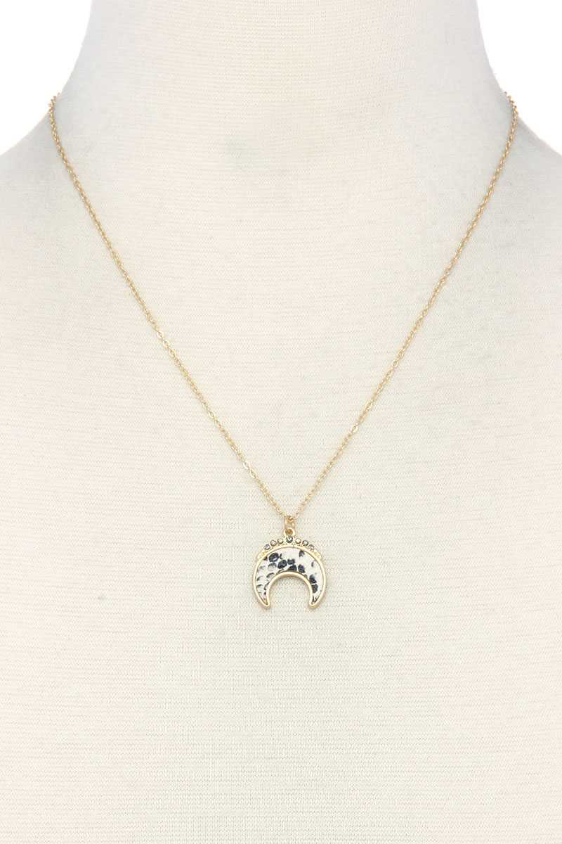 Crescent Moon Charm Necklace