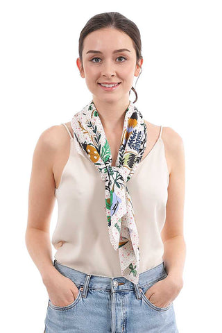 Fashion Soft Garden Print Silky Scarf
