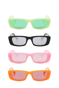 Trendy Sharp Eye Vibrant Colored Sunglasses