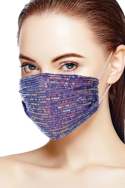 3d Sequin Fashion Facemask
