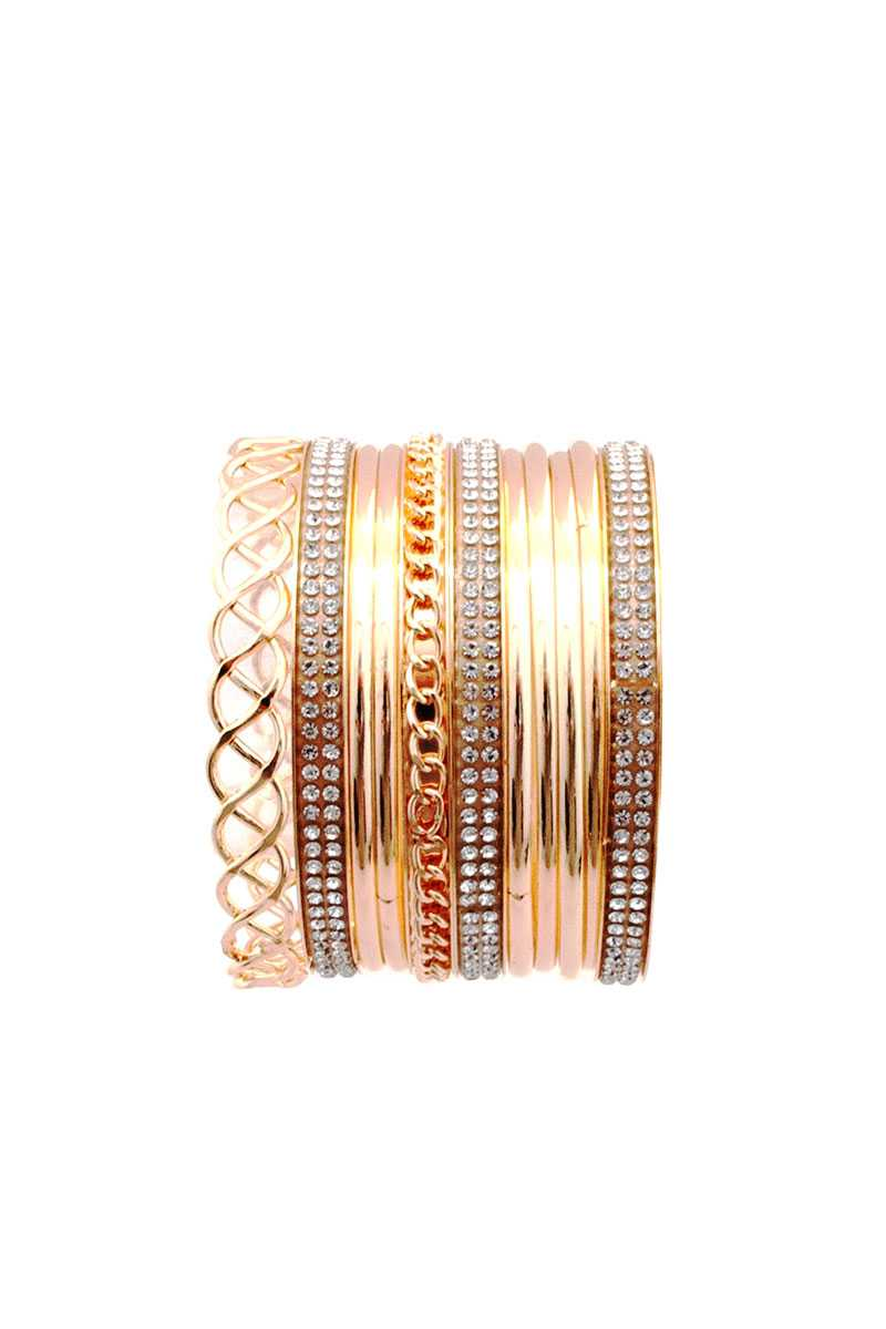 Metal Multi Bangle Bracelet