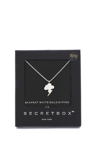 Secret Box Lighting Bolt Charm Necklace
