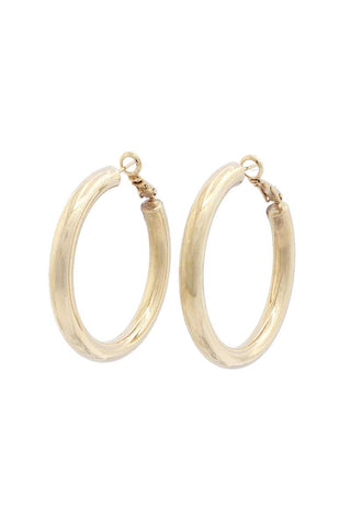 Tube Solid Hoop Earring