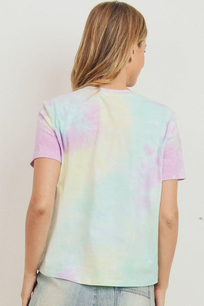 Tie Dyed Round Neck Short Sleeve Tee