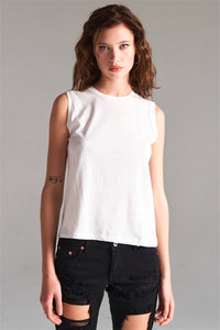 Solid Sleeveless Round Neck Basic Tank Top