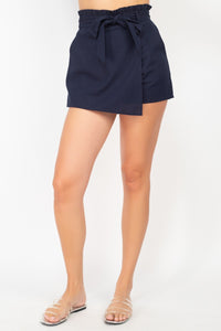 Ruffled Tie-waist Wrap Short