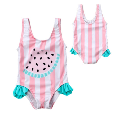 Kids Bathing Suits Girls One Piece Watermelon Print 2018 children swimwear for girls infant swimsuit girl child Summer bikini