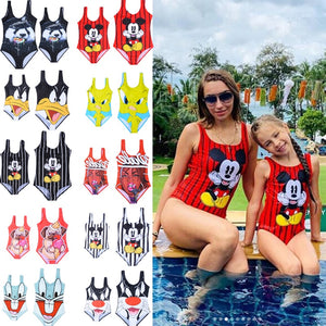 Swimwear Women Family Matching Swimsuit Woman 2019 One Piece Swimsuit Girls Bathing Costume One Piece Bikini Jumpsuit Swim Wear