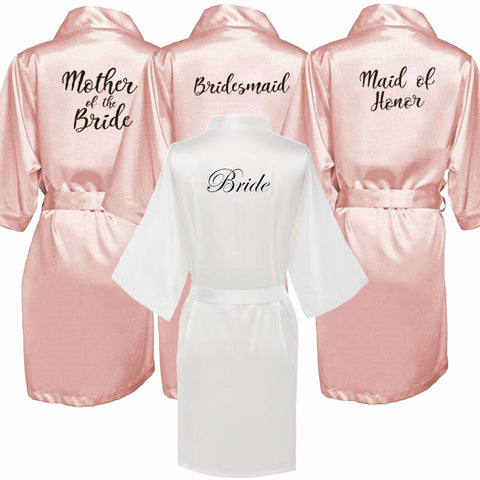 Bridal Party Wedding Gift Kimono Satin Robes