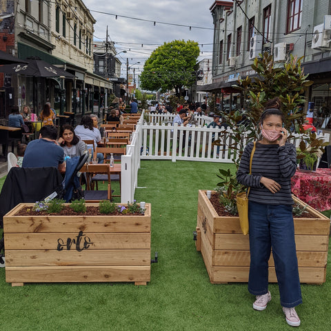 Orto planters in YArraville