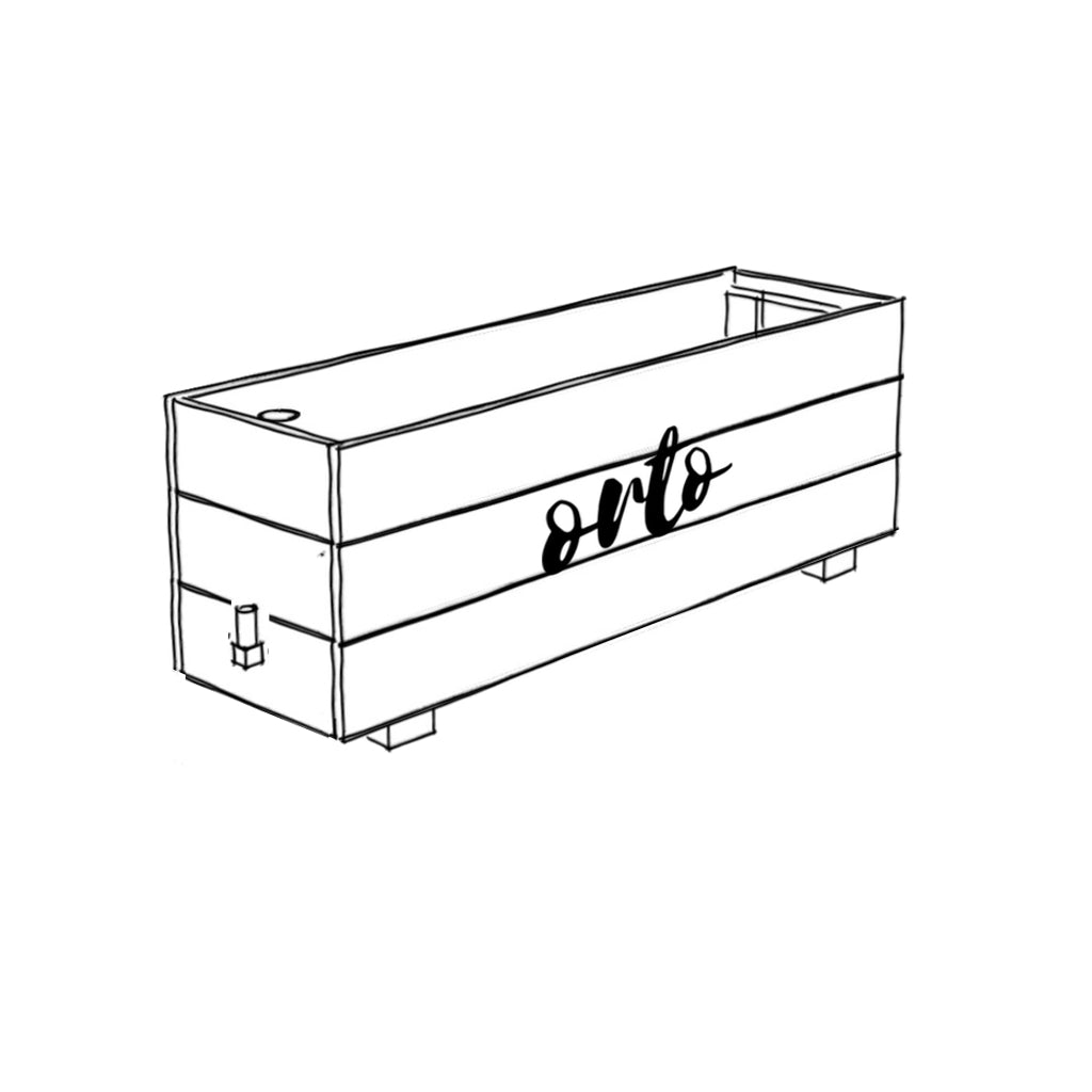 ORTO SELF WATERING PLANTER BOX 125L