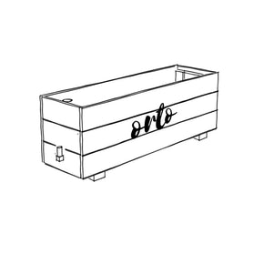 ORTO Self Watering Planter Box 131 x 42 x 54cm