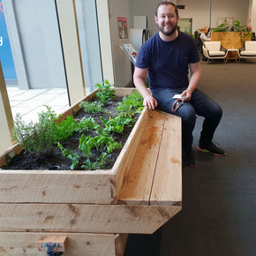 planter box with seat