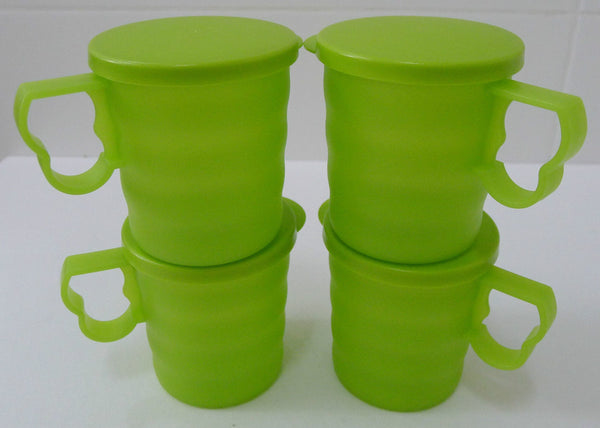 Tupperware Blossom Mugs & Seals 350ml - Set of 4
