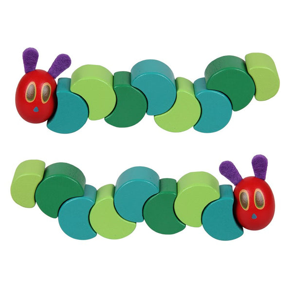 Montessori Wooden Toys The Very Hungry Caterpillar  Educational Flexible Blocks for Children Kids