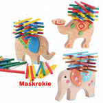 Montessori Wooden Elephant/Camel Balancing Toys Blocks for Children Kids