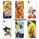 APPLE iPhone SE 5C 6 6s 7 Plus Dragon Ball Z Goku Hard Transparent Phone Case Cover