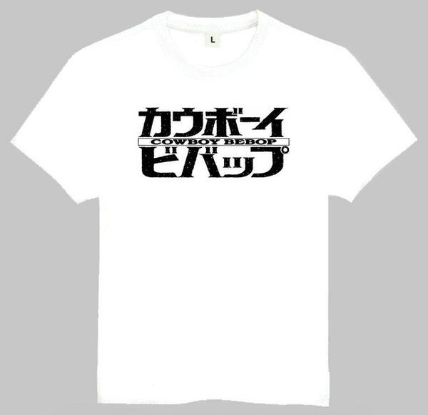 Cowboy Bebop Anime White T-Shirt Top Tees Shirt Short Sleeve