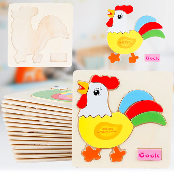 Montessori  Educational Wooden 3D Jigsaw Puzzle for Children Kids