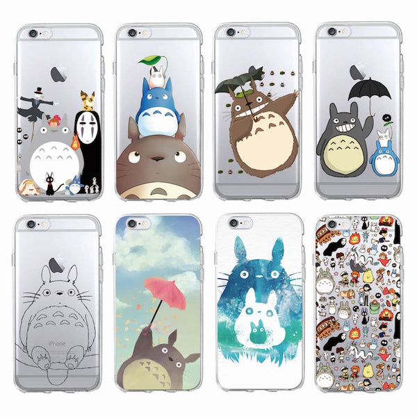 APPLE iPhone 7 7Plus 6 6S 6Plus Totoro Spirited Away Ghibli Miyazaki Soft Clear Phone Case
