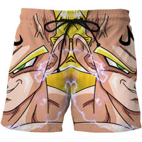 Dragon Ball Stylish 3D Print Beach Casual Shorts