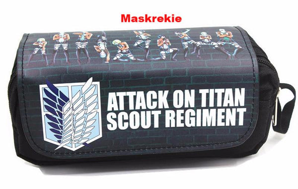 Attack On Titan Cosmetic Cases Pencil Case Make Up Bag