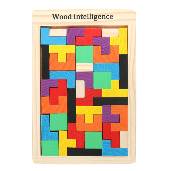 Montessori Early Education Wooden Imaginational Tangram Brain Teaser Puzzle Toys for Children Kids