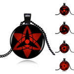 Naruto Sharingan Shippuuden Vintage Eyes Pendant Necklace Black Chain Necklace