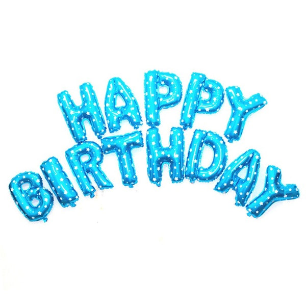 Happy Birthday Merry Christmas Party Decoration Foil Balloons