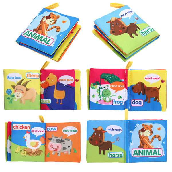 Montessori Early Education Soft Cloth Book For Children Kids
