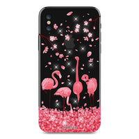 Christmas Special APPLE iPhone X 10 Soft Silicone Fundas Glitter Rhinestones Phone Cover Case