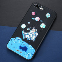 Christmas Special APPLE iPhone X 10 Anti-knock Astronaut Matte Vintage Cover Soft Shell Phone Cover Case