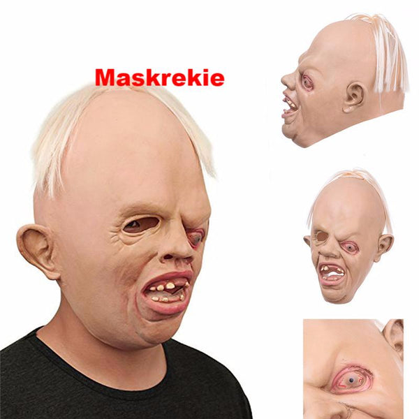 Halloween Breathable Latex Full Head Face Terror Toy Costume Masks