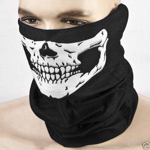 Halloween Skull Skeleton Multi function Half Face Scarf