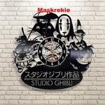 Studio Ghibli Wall Clock Modern Spirited Away  Anime Wall Watch Home Decor Classic Clock