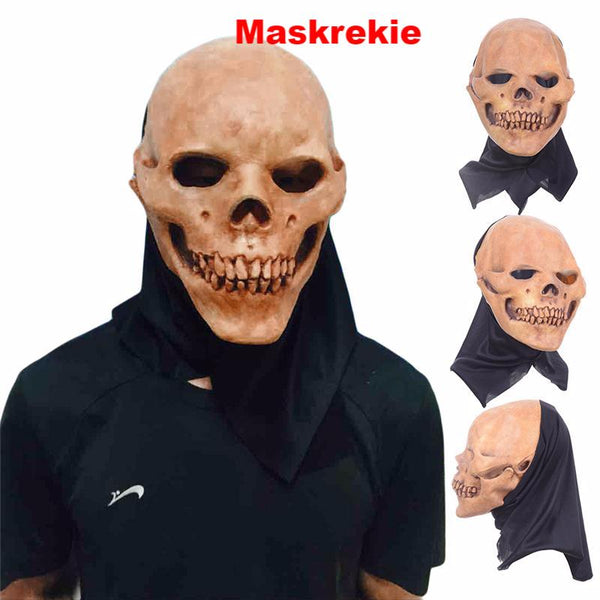 Halloween Breathable Latex Full Head Face Skull Costume Masks