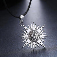D.Gray-man Silver Metal Necklace Allen Logo Cosplay Pendant  Jewelry