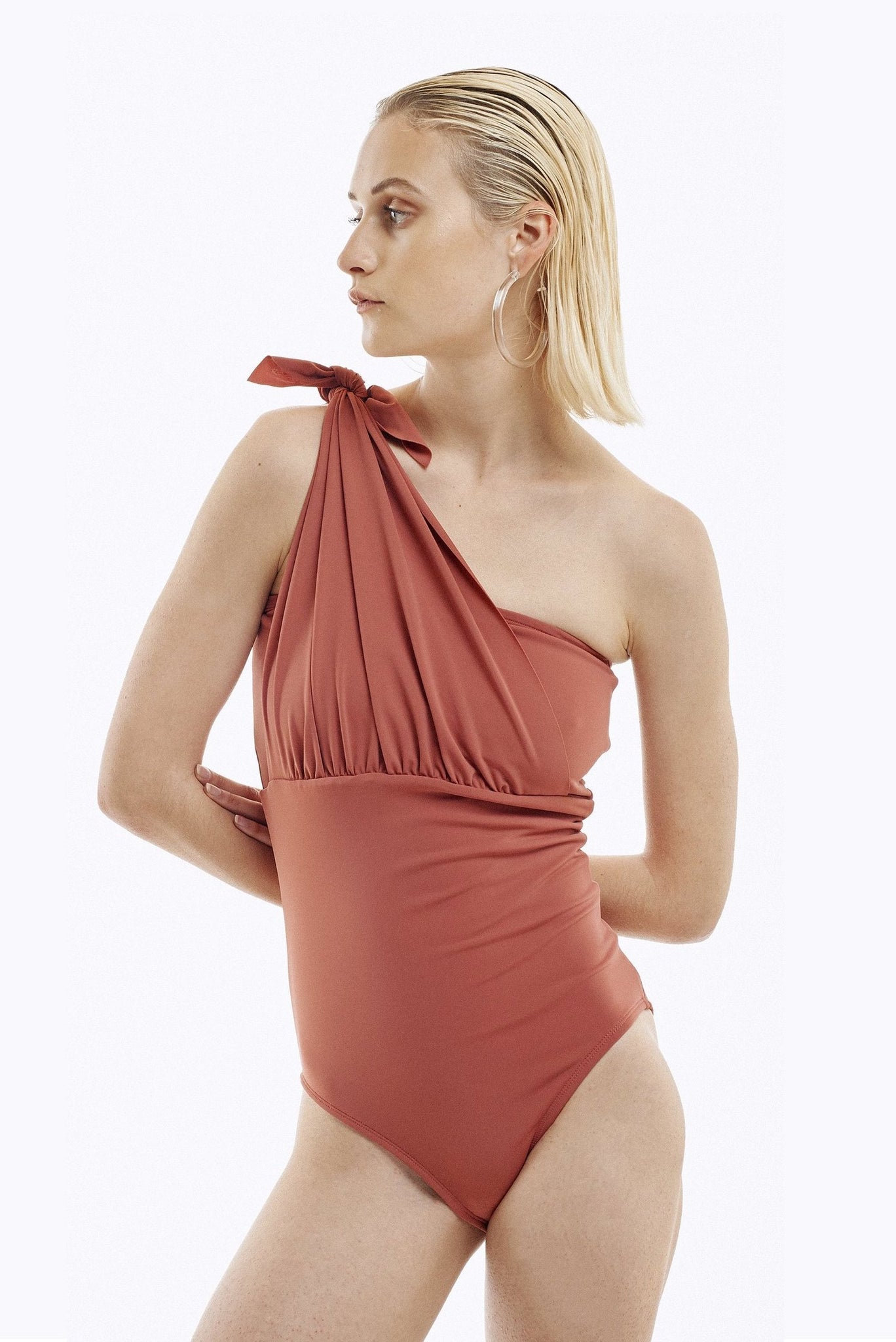 KNOT BANDEAU ONE PIECE - BLUSH
