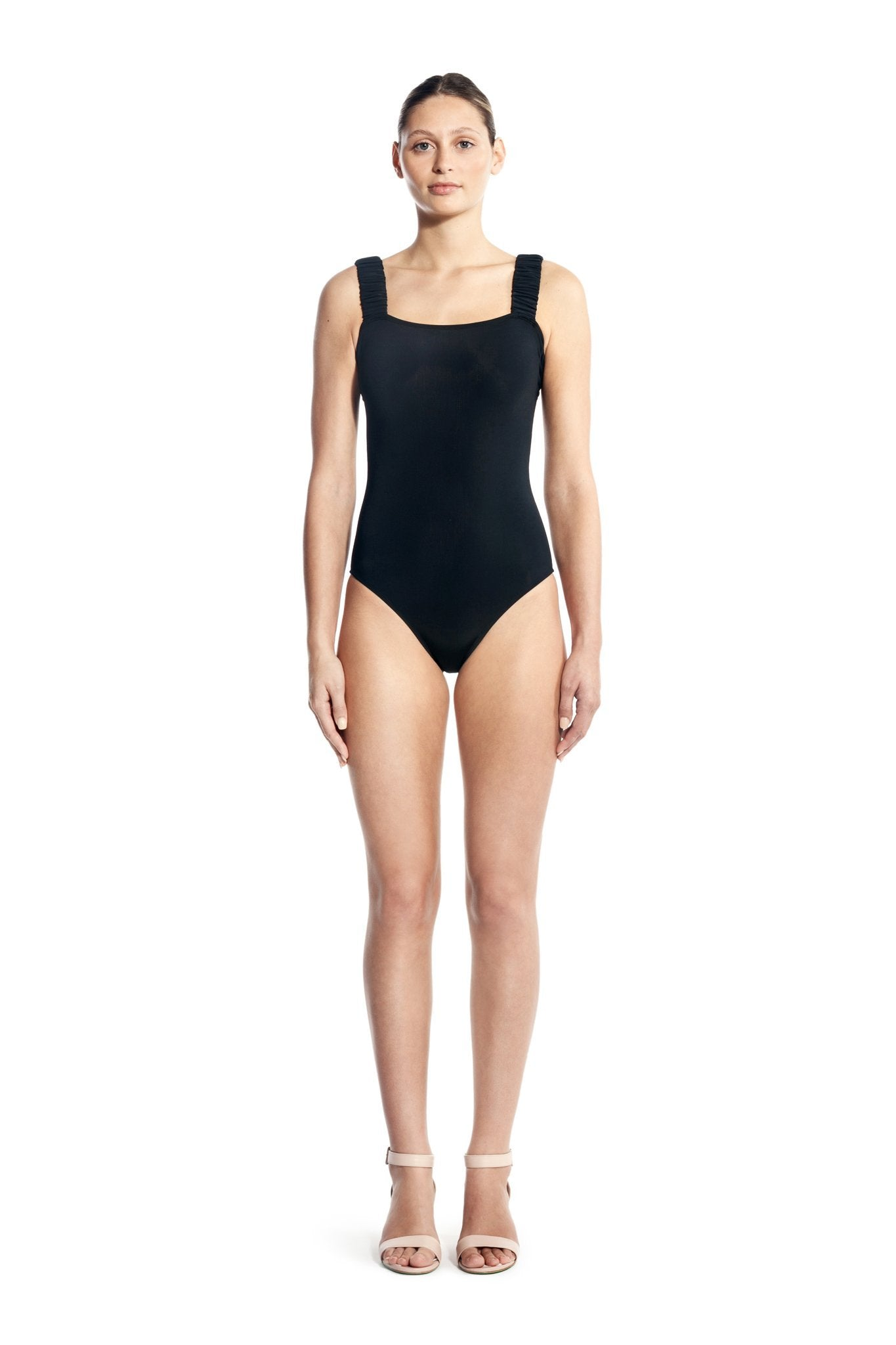 SCRUNCHIE ONE PIECE-BLACK